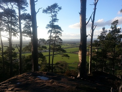 Walking in Shropshire - Nesscliffe view - walking & wine