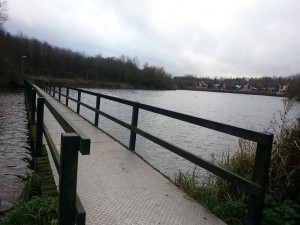 Walking in Shropshire - Priorslee Lake bridge - walking & wine